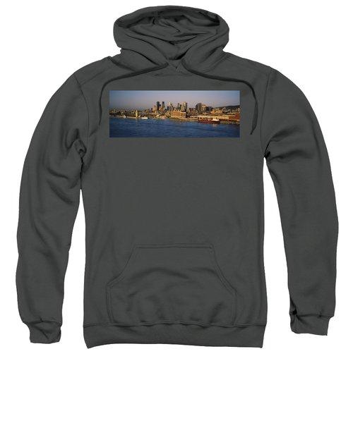 Harbor With The City Skyline, Montreal Sweatshirt