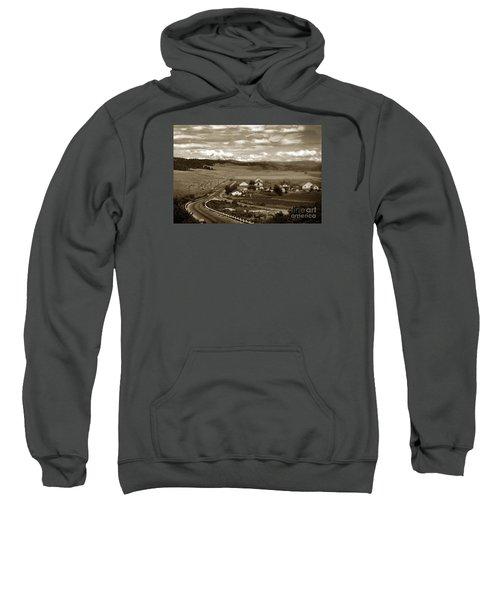 Hatton Ranch Carmel Valley From Highway One California  1945 Sweatshirt