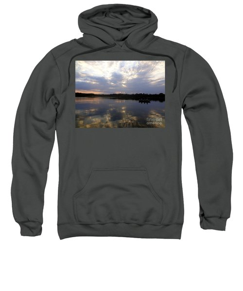 Heading Home On Lake Roosevelt In Outing Minnesota Sweatshirt