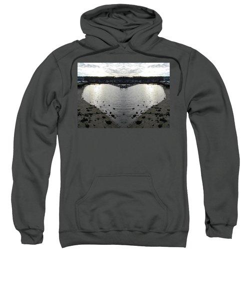 Heart  Shape In The Harbor Sweatshirt