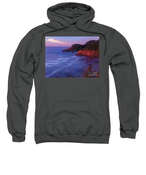 Heceta Head Lighthouse At Sunset Oregon Coast Sweatshirt