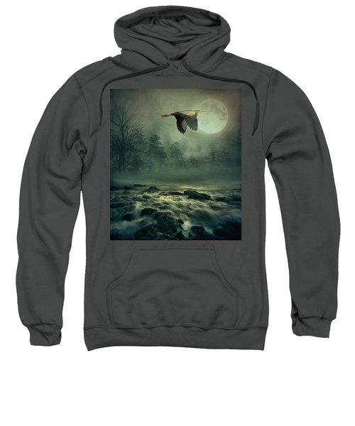 Heron By Moonlight Sweatshirt