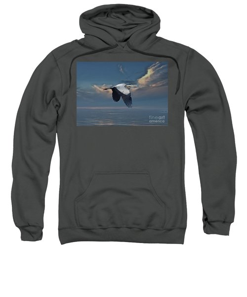 Heron Night Flight  Sweatshirt