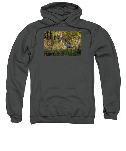 Heron On The Hunt Sweatshirt