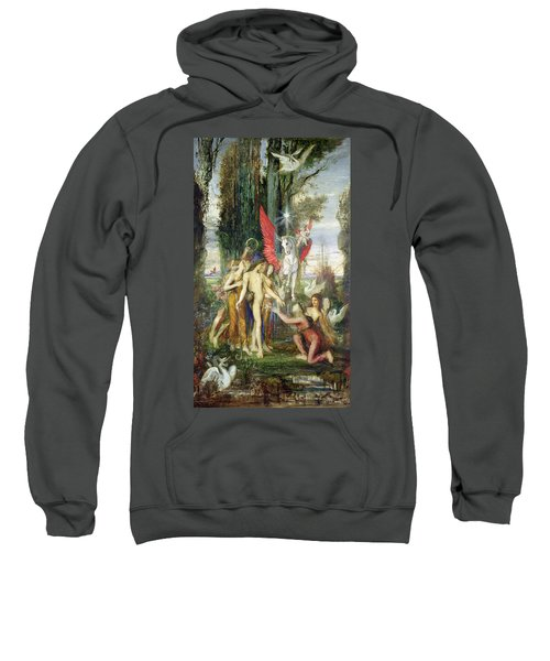 Hesiod And The Muses Sweatshirt by Gustave Moreau