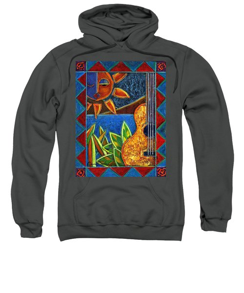 Sweatshirt featuring the painting Hispanic Heritage by Oscar Ortiz