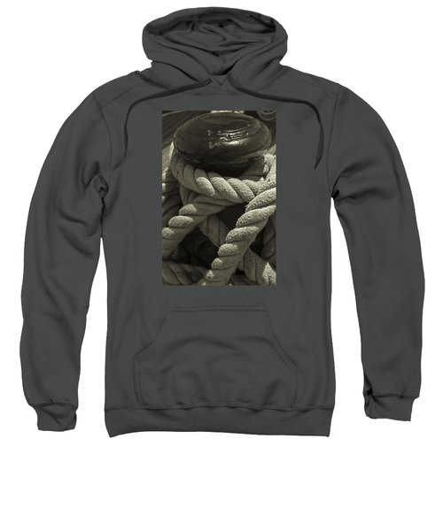 Hold On Black And White Sepia Sweatshirt