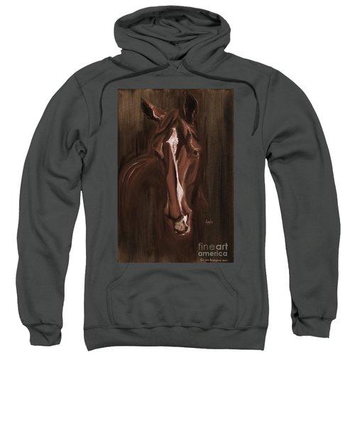 Horse Apple Warm Brown Sweatshirt