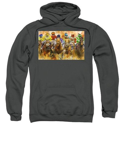 Horse Racing Abstract Sweatshirt