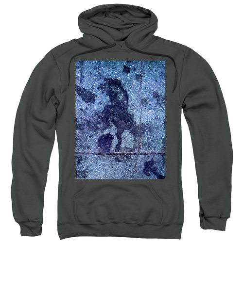 Horse Smashing Evil On Skid Row Sweatshirt
