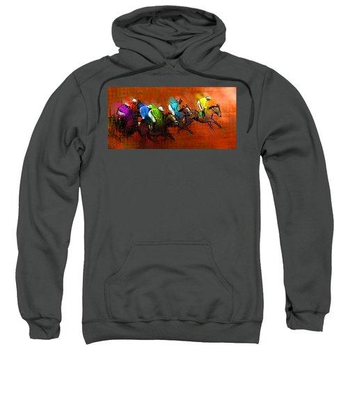 Horses Racing 01 Sweatshirt