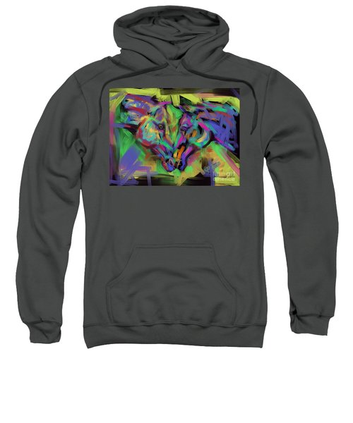 Horses Together In Colour Sweatshirt