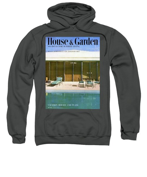 House & Garden Cover Of A Swimming Pool At Miami Sweatshirt