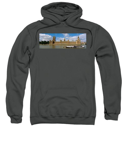 Houses Of Parliament, Water And Boat Sweatshirt