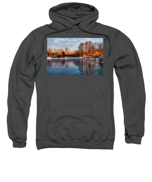 Icy Reflections At Sunrise - Lake Ontario Impressions Sweatshirt