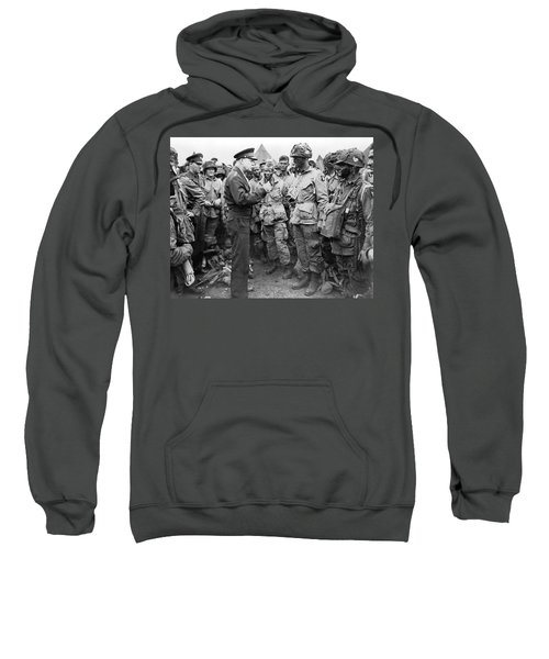 Ike With D-day Paratroopers Sweatshirt
