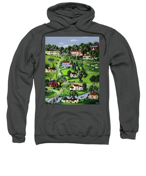 Illustration Of A Village Sweatshirt