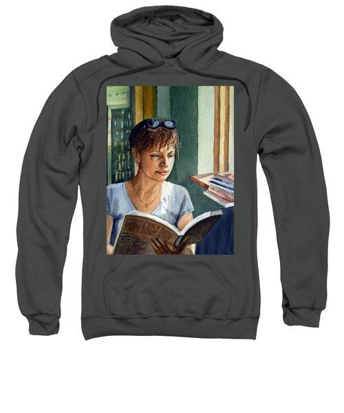 In The Book Store Sweatshirt by Irina Sztukowski