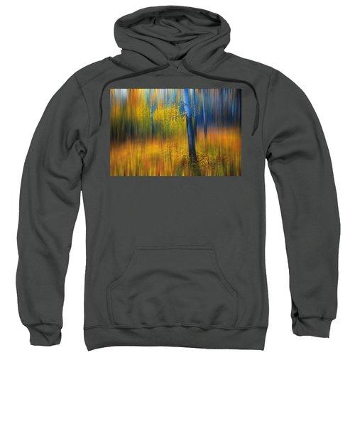 In The Golden Woods. Impressionism Sweatshirt