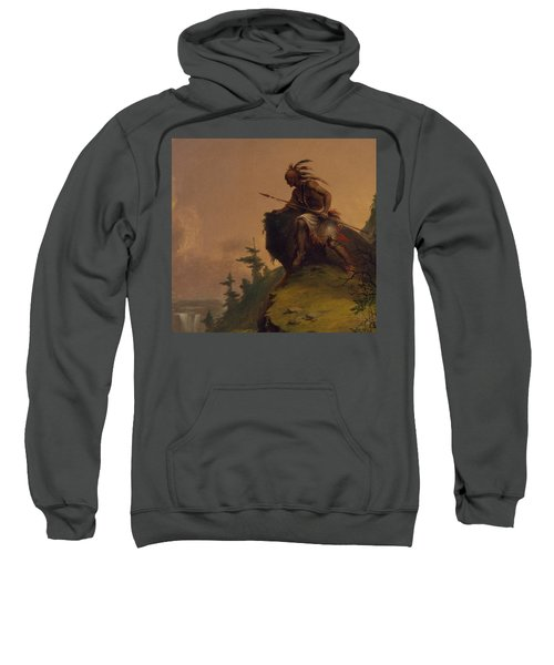 Indian On A Cliff Sweatshirt