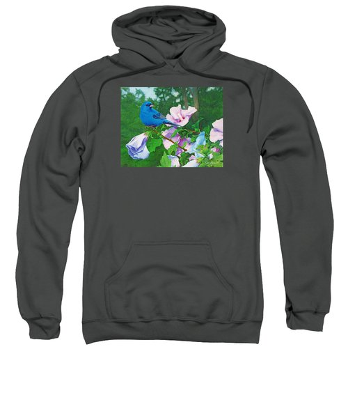 Indigo Bunting  Sweatshirt by Ken Everett
