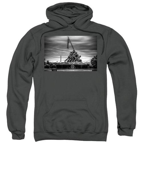 Iwo Jima Monument Black And White Sweatshirt