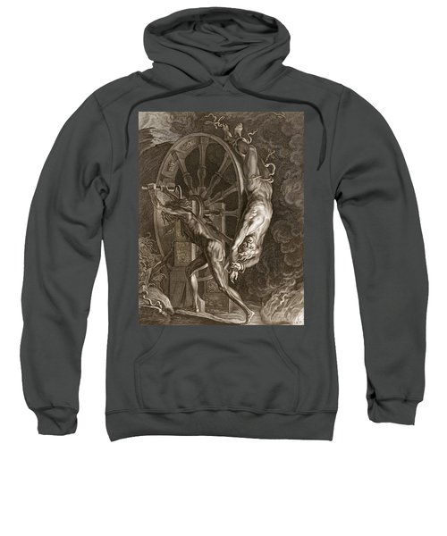 Ixion In Tartarus On The Wheel, 1731 Sweatshirt by Bernard Picart