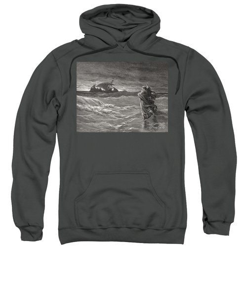 Jesus Walking On The Sea John 6 19 21 Sweatshirt