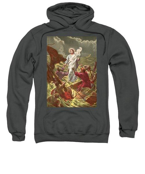 Jesus Walking On The Water Sweatshirt