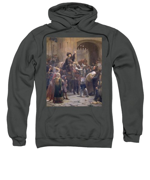 Joan Of Arc 1412-31 Leaving Vaucouleurs, 23rd February 1429 Oil On Canvas Sweatshirt