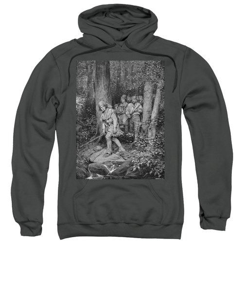 Joseph Brown Leading His Company To Nicojack, The Stronghold Of The Chickamaugas, Engraved Sweatshirt