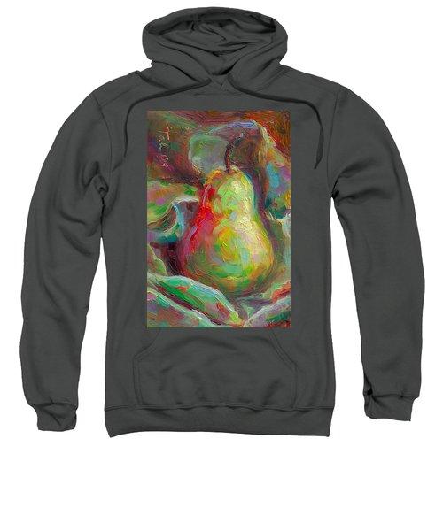 Just A Pear - Impressionist Still Life Sweatshirt