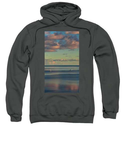 Kaneohe Bay Panorama Mural 4 Of 5 Sweatshirt