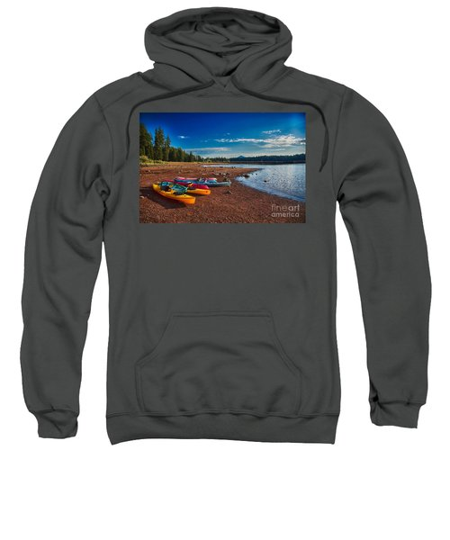 Kayaking On Howard Prairie Lake In Oregon Sweatshirt
