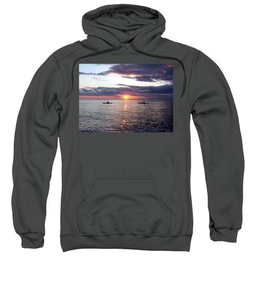 Kayaks At Sunset Sweatshirt