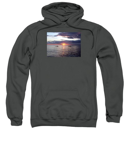 Kayaks At Sunset Sweatshirt