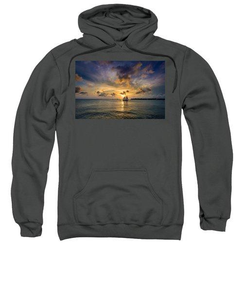 Key West Florida Sunset Mallory Square Sweatshirt