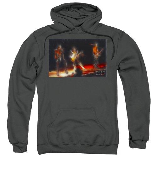Kiss-b33a-fractal Sweatshirt