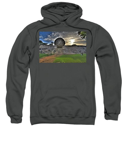 Sweatshirt featuring the photograph Krishna's Butterball by Ross G Strachan