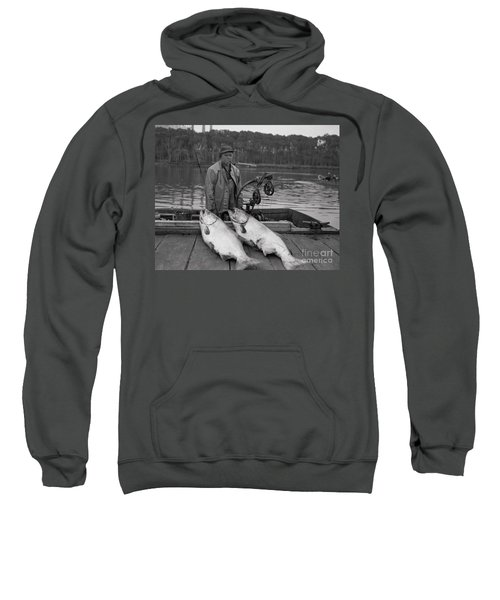 Large King Salmon Moss Landing Monterey California  Circa 1955 Sweatshirt