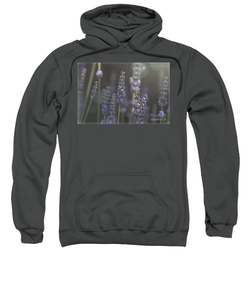 Sweatshirt featuring the photograph Lavender Flare. by Clare Bambers