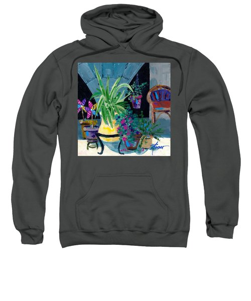 Library Courtyard-rhodes Old Town Sweatshirt