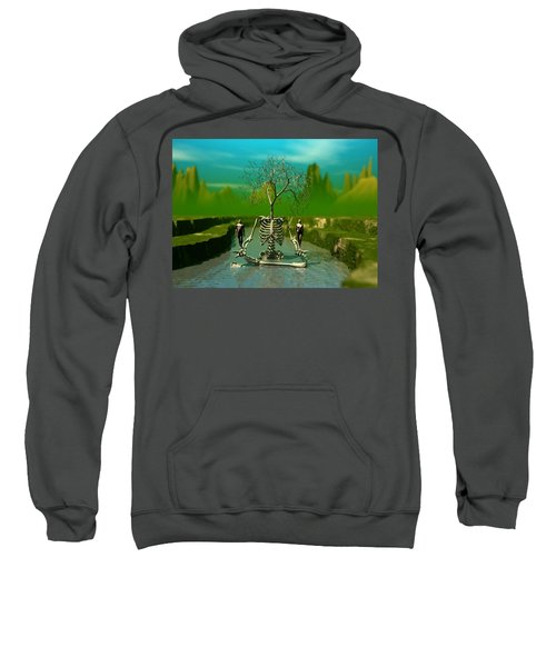 Life Death And The River Of Time Sweatshirt