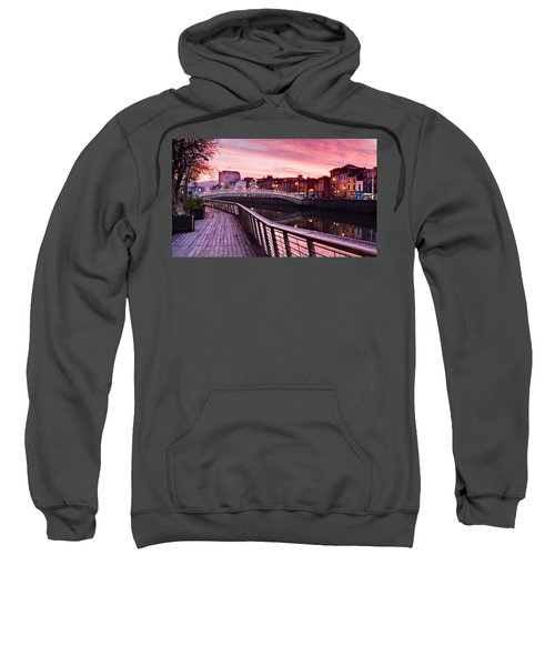 Liffey Boardwalk At Dawn - Dublin Sweatshirt