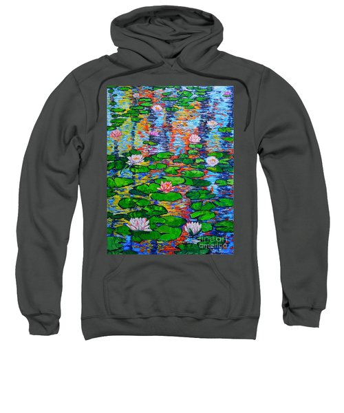 Lily Pond Colorful Reflections Sweatshirt