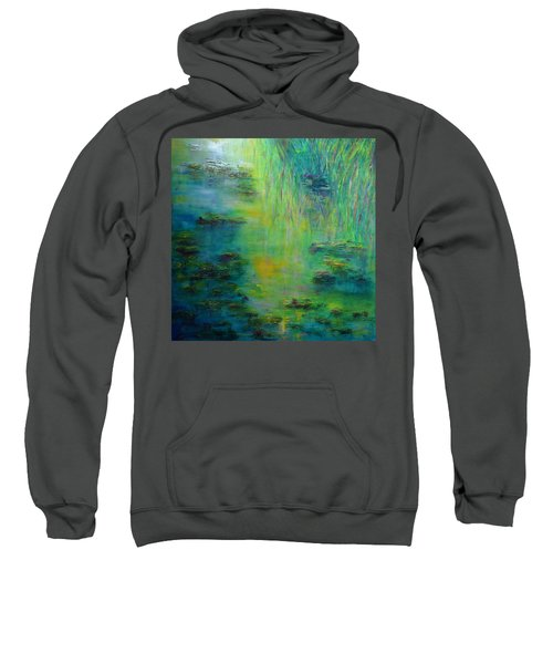 Lily Pond Tribute To Monet Sweatshirt