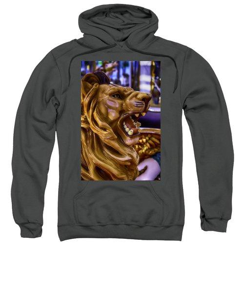 Lion Roaring Carrousel Ride Sweatshirt