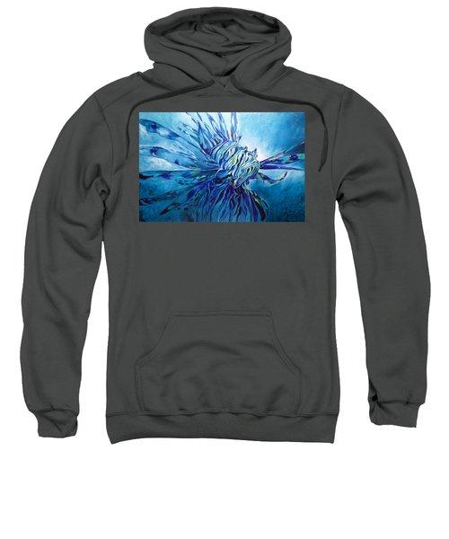 Lionfish Abstract Blue Sweatshirt