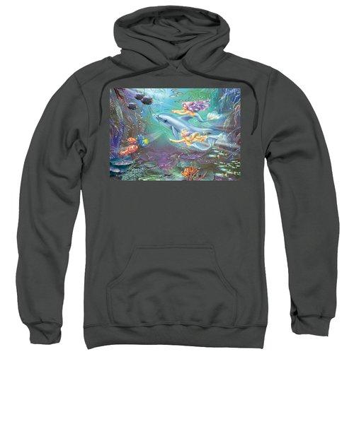 Little Mermaids And Dolphin Sweatshirt