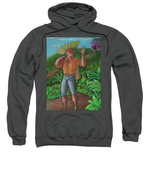 Sweatshirt featuring the painting Loco De Contento by Oscar Ortiz
